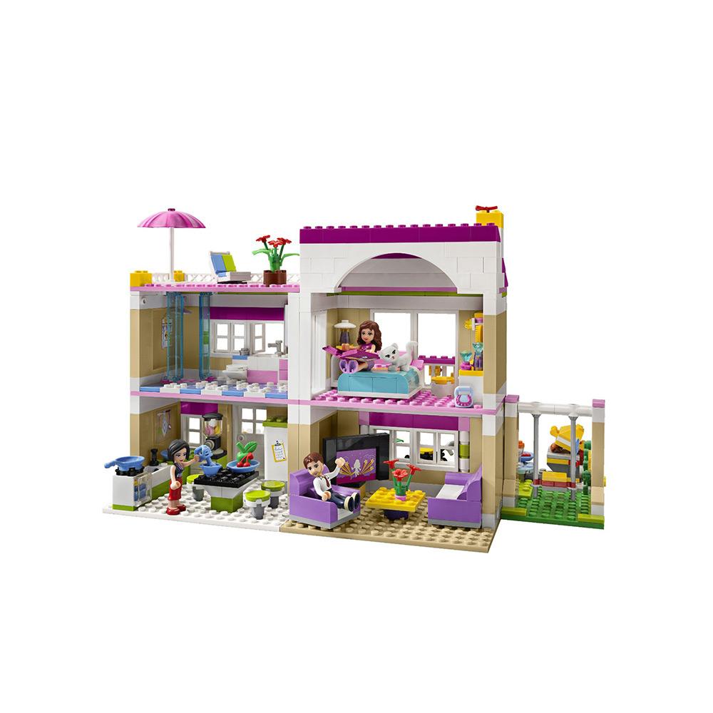 美国直邮lego乐高好朋友系列奥丽薇亚的房子 女孩拼装积木玩具