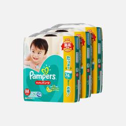 【包邮 3包装 118.33元/包】帮宝适Pampers M74片(6-11kg)拉拉裤 1.6元/片