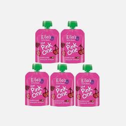 【包邮包税】英国直邮Ella's  Kitchen艾拉厨房有机粉色果泥90G (5包装)