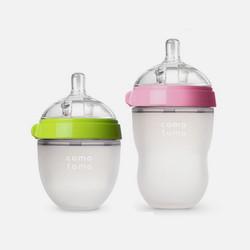 香港直邮【包税包邮】Comotomo可么多么宽口径全硅胶奶瓶绿色150ml+粉色250ml