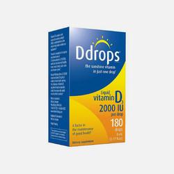 美国直邮Ddrops 成人维生素D3 2000IU 5ml