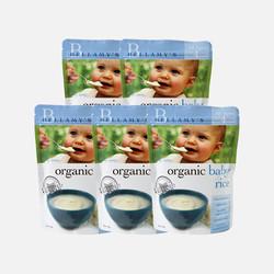 5袋包邮包税新鲜上市澳洲直邮Bellamy's贝拉米有机婴儿纯大米米粉 4个月以上125g*5