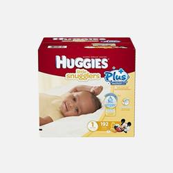 【包邮包税】美国直邮Huggies 好奇柔软纸尿裤加长版  1号 192片