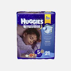 美国直邮Huggies好奇夜用纸尿裤 5号12kg以上 21片