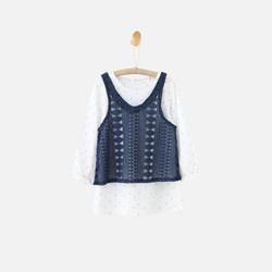 韩国直邮【包邮包税】OZKIZ清新长袖两件式连衣裙