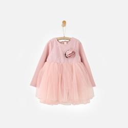 韩国直邮【包邮包税】OZKIZ女童花朵长袖蓬蓬裙连衣裙
