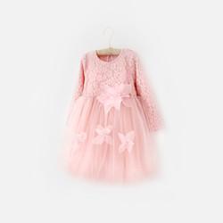 韩国直邮【包邮包税】OZKIZ女童蕾丝蓬蓬裙连衣裙