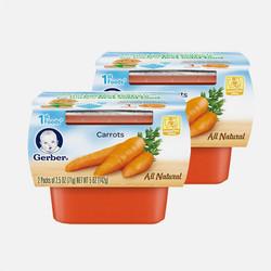 【包邮包税 2盒装】美国嘉宝Gerber 1段(4个月以上)胡萝卜泥 71g