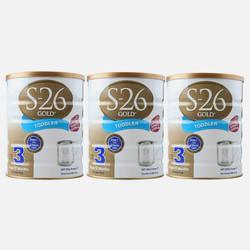 澳洲直邮【包邮包税】Wyeth惠氏S-26 金装婴幼儿奶粉3段(1-2岁) 900g *3罐