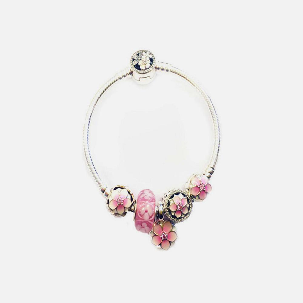 PANDORA 潘多拉 木兰花系列 镂空串珠手链