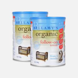 包邮包税澳大利亚直邮Bellamy's贝拉米2段有机婴儿牛奶粉(6个月以上)900g*2